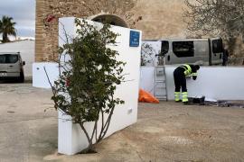En marcha los trabajos de reparación del jardín de ses Eres de Sant Francesc