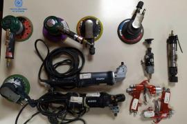 Un operario sustrajo decenas de herramientas a la empresa para la que trabajaba en Palma