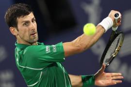 Plácido debut de Novak Djokovic ante Jaziri en Dubai
