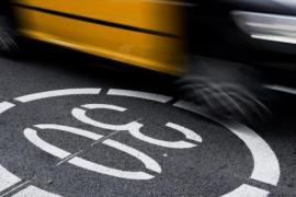 Barcelona aplicará el límite a 30 en 112 kilómetros de vías