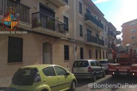 Desprendimiento de una fachada en Palma