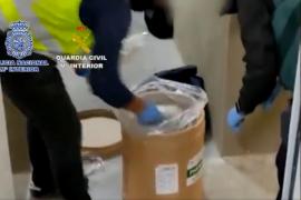 Desarticulada una red de tráfico de drogas con conexión con exdirigentes de cárteles colombianos