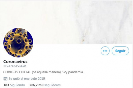 Duelo en Twitter entre coronavirus y gripe común por hacerse 'virales'