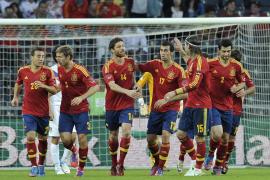 La selección española cierra su preparación con la lucha del 'nueve'