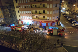 Un andamio se desploma en la calle General Riera