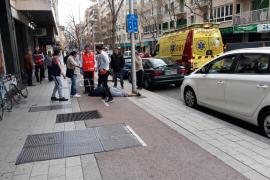 Hospitalizado un ciclista tras caer en una 'rejilla trampa' en Palma
