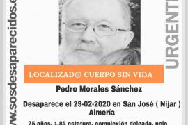 Hallan el cadáver del anciano desaparecido en Almería