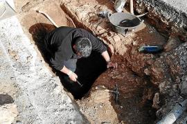 Las obras del gas en Alcúdia sacan a la luz nuevos restos de una villa romana