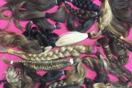 Cabellos donados para hacer pelucas