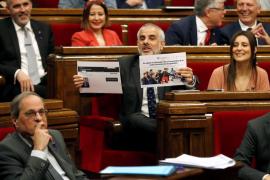 Choque entre Torra y ERC en el Parlament en un bronco clima preelectoral