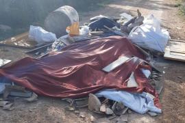 El Seprona y el Ajuntament de Marratxí investigan cuatro vertidos ilegales con amianto