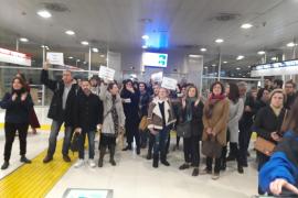 Protesta en la Intermodal de Palma