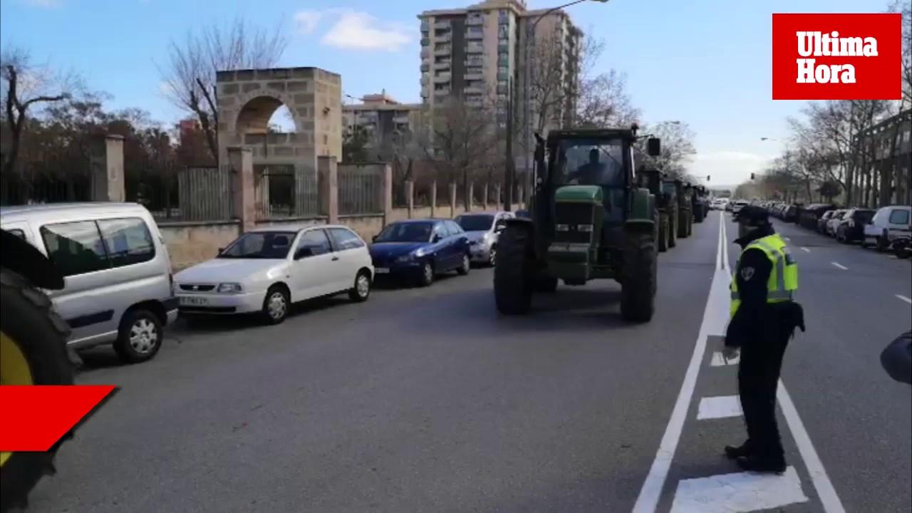 Los agricultores toman Palma con más de 200 tractores para reivindicar «unos precios justos»