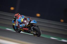 Augusto Fernández, por los suelos en el Gran Premio de Catar