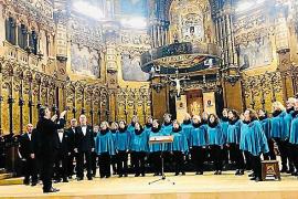El Coro de Sant Josep actúa en la Basílica barcelonesa de Montserrat