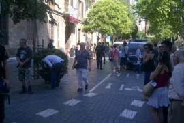 Un detenido en el desalojo de la casa de okupas de la plaza de España
