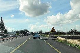 Cierran de noche la carretera entre Binissalem y Lloseta por las obras