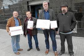 Los representantes Salvador Maimó (AV Es Fortí), Toni Fernández (AV Son Espanyolet), Joan Prats (Ponent Potent) y Toni Picazo (AV Son Rapinya).