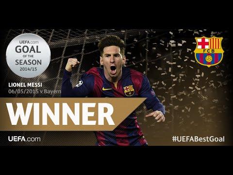 La vaselina de Messi a Neuer tras sentar a Boateng, mejor gol UEFA de la temporada