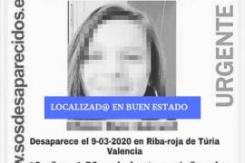Hallada en buen estado la niña desaparecida en Valencia
