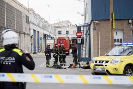 La zona fue acordonada tras la explosión en una empresa química de Barcelona