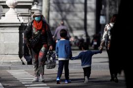 Avenidas vacías por el coronavirus en Madrid