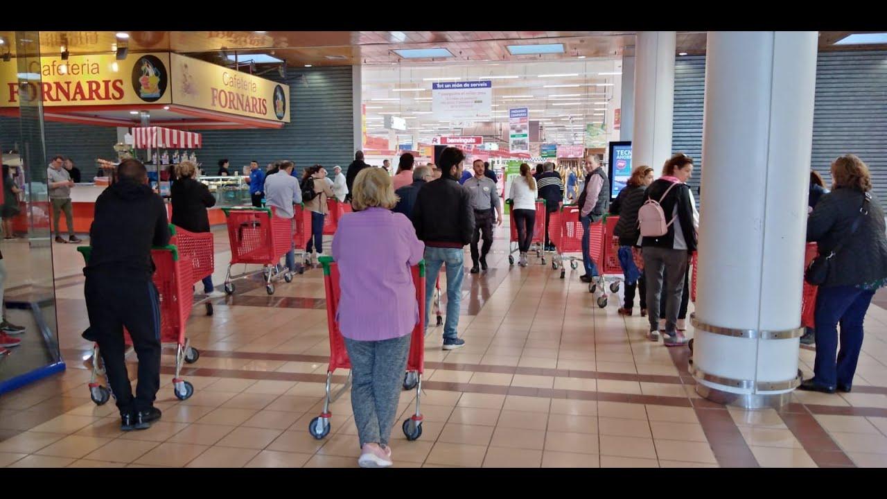 Supermercados y mercados de Mallorca, en el primer día de confinamiento