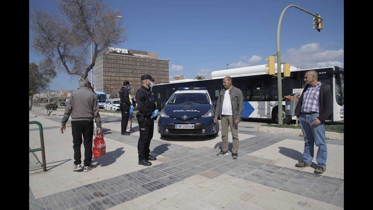 Primeros controles policiales por las medidas del Gobierno