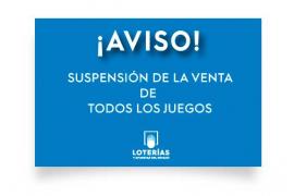 Suspendidos todos los sorteos de Loterías y la ONCE
