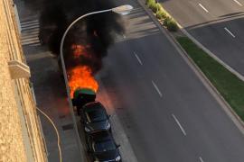 La policía detiene al pirómano de la calle General Riera de Palma