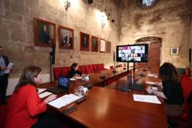 Videocoferencia del Govern con los bancos por el coronavirus