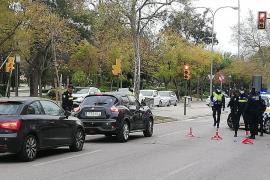 La Policía Local de Palma ya controla a los ocupantes de los vehículos