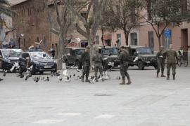 El Ejército patrulla Palma
