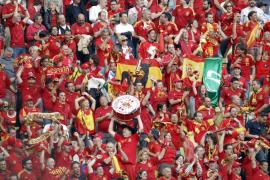 La afición española vence por goleada