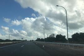 Cierran un tramo de la autopista de Inca por obras