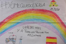 La policía lanza la campaña 'Dibujando gratitud' para los más pequeños de la casa