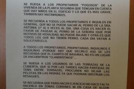El surrealista aviso de convivencia durante el confinamiento en una finca de Palma