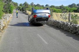 Un cura ebrio sufre un accidente de tráfico en una carretera de Mallorca
