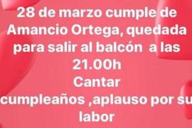 Convocatoria en redes para felicitar a Amancio Ortega por su cumpleaños