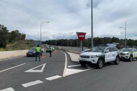 Identificadas más de 8.000 personas en lo que va de fin de semana en las carreteras de Baleares