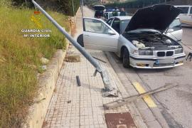 Detenido un conductor, sin carnet ni seguro, tras darse a la fuga en Alcúdia
