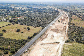 El Consell para las obras de la carretera Llucmajor-Campos