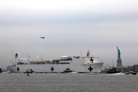 Así es el barco hospital que alivia la crisis del coronavirus en Nueva York