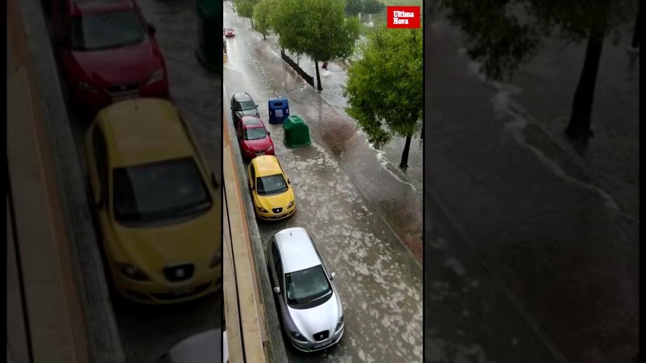 Fuertes lluvias en sa Pobla