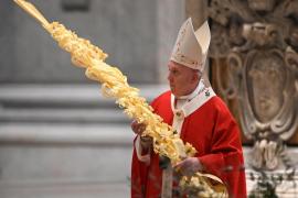 Misa de Domingo de Ramos en El Vaticano sin fieles