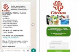 El último intento de 'phishing' promete falsos cupones de Cáritas