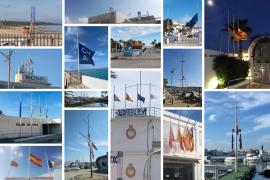 Banderas a media asta en los clubes náuticos de Baleares por el coronavirus