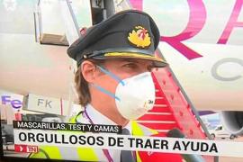 Un piloto mallorquín de Qatar Airways: «Es un orgullo ayudar a España»