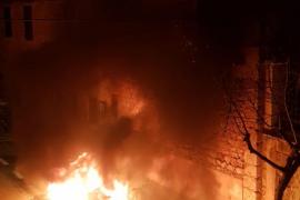 Aparatoso incendio provocado en Sóller
