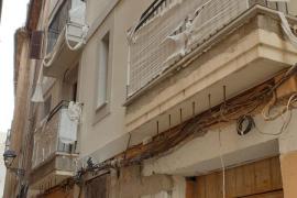 La Policía Local paraliza unas obras en el casco antiguo de Palma